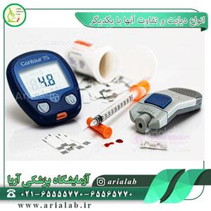 انواع دیابت و تفاوت آنها با یکدیگر